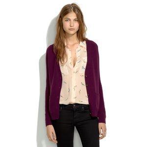 MADEWELL Purple Cardigan